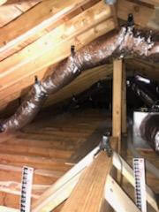 INSULATION IN ATTIC BEFORE AND AFTER